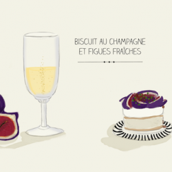 Biscuit champagne et figues fraîches